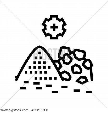 Mining Processing Line Icon Vector. Mining Processing Sign. Isolated Contour Symbol Black Illustrati