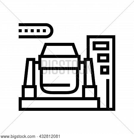 Iron Or Coal Processing Plants Line Icon Vector. Iron Or Coal Processing Plants Sign. Isolated Conto