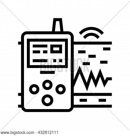 Vibration Assessment Line Icon Vector. Vibration Assessment Sign. Isolated Contour Symbol Black Illu