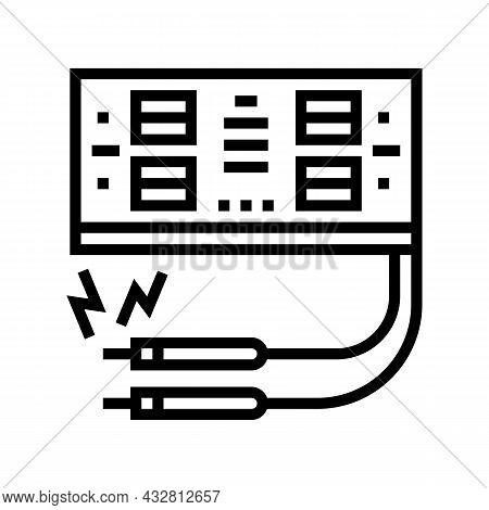 Electrosurgery Hospital Electronic Equipment Line Icon Vector. Electrosurgery Hospital Electronic Eq
