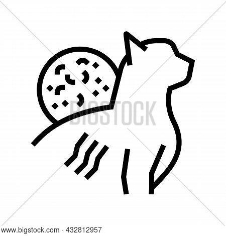 Cat Scratch Disease Line Icon Vector. Cat Scratch Disease Sign. Isolated Contour Symbol Black Illust