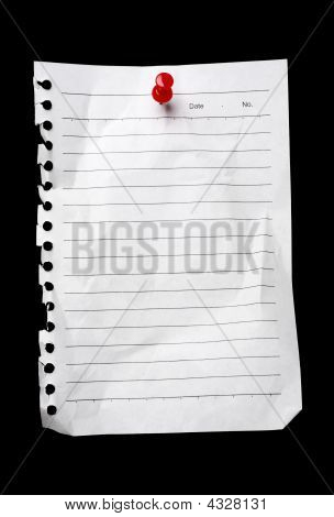 Blank Note To-do List Held By A Thumbtack