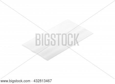 Blank White Rectangle Interior Carpet Mockup, Side View, 3d Rendering. Empty Fabric Floor Covering S