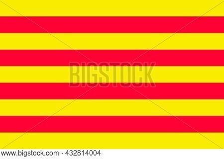 Catalonia Flag Region, In North-eastern Spain In Part Of Europe