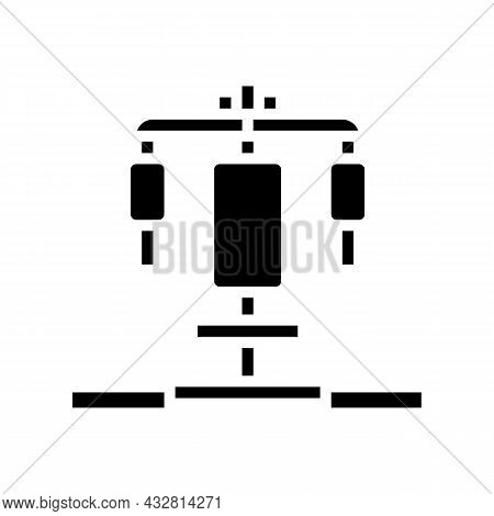 Fitness Station Glyph Icon Vector. Fitness Station Sign. Isolated Contour Symbol Black Illustration