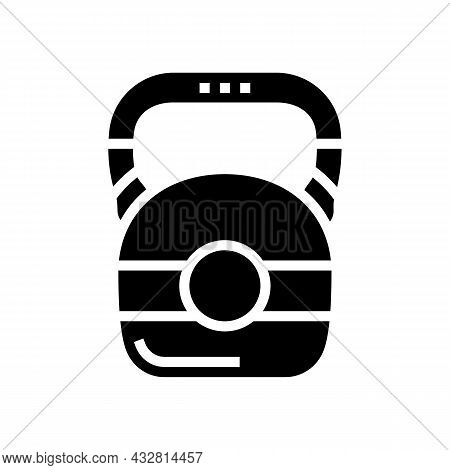 Dumbbell Athlete Tool Glyph Icon Vector. Dumbbell Athlete Tool Sign. Isolated Contour Symbol Black I