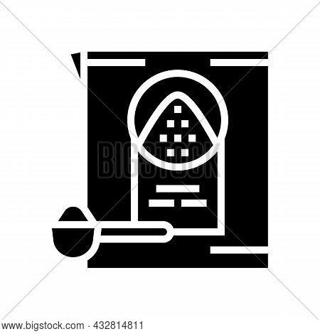 Detergent Powder Glyph Icon Vector. Detergent Powder Sign. Isolated Contour Symbol Black Illustratio