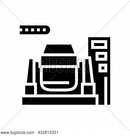 Iron Or Coal Processing Plants Glyph Icon Vector. Iron Or Coal Processing Plants Sign. Isolated Cont