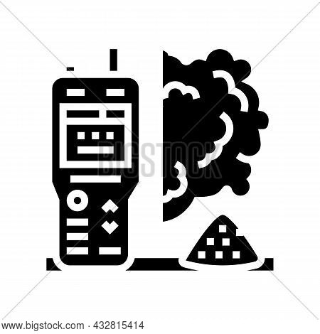 Air Dust Quality Glyph Icon Vector. Air Dust Quality Sign. Isolated Contour Symbol Black Illustratio