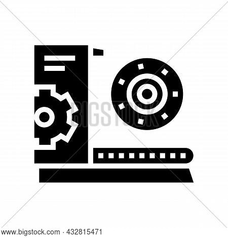 Equipment And Parts Fabrication Glyph Icon Vector. Equipment And Parts Fabrication Sign. Isolated Co