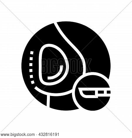 Implant Surgery Glyph Icon Vector. Implant Surgery Sign. Isolated Contour Symbol Black Illustration