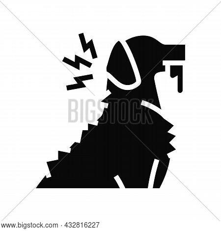 Rabies Pet Disease Glyph Icon Vector. Rabies Pet Disease Sign. Isolated Contour Symbol Black Illustr