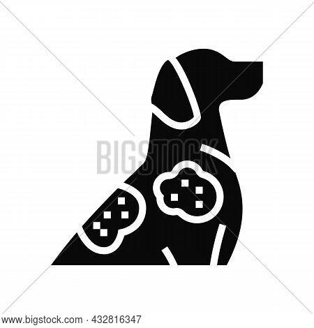 Sarcoptic Mange Glyph Icon Vector. Sarcoptic Mange Sign. Isolated Contour Symbol Black Illustration