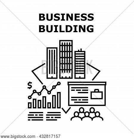 Business Building Tower Vector Icon Concept. Business Building Tower With Company Offices For Meetin