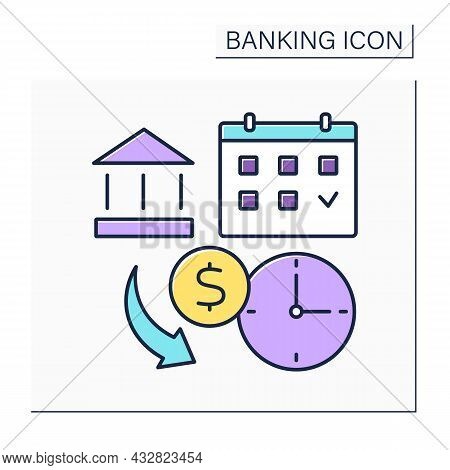 Payday Loans Color Icon.short-term Borrowing.lender Will Extend High-interest Credit Based On Income