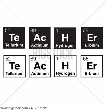 Chemical Elements Of The Periodic Table On White Background. Teacher Periodic Table Of Elements Quot