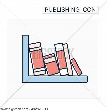 Spine Color Icon. Book Jacket. Cover Encloses Inner Edges Of Pages. Title And The Author Name.publis