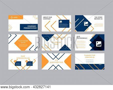 Creative Company Investment Pitch Decks Vector Template Design. Elegant And Modern Styling To Convin