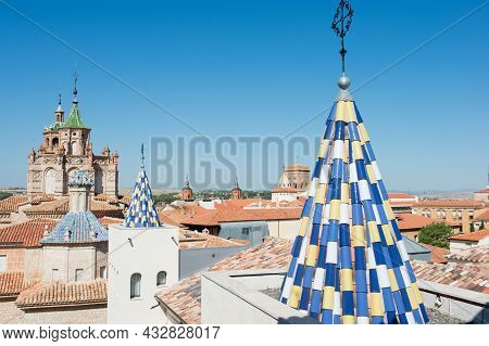 Beautiful Panoramic Of Rooftops And Ancient Towers From The Teruel Museum. Aragon, Spain, Europe