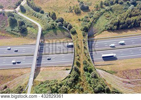 Ecoduct De Borkeld on the highway A1 in Rijssen the Netherlands