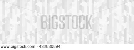 Seamless Polygonal Pattern. Tiled Background. Seamless Abstract Texture. Geometric Wallpaper. Black