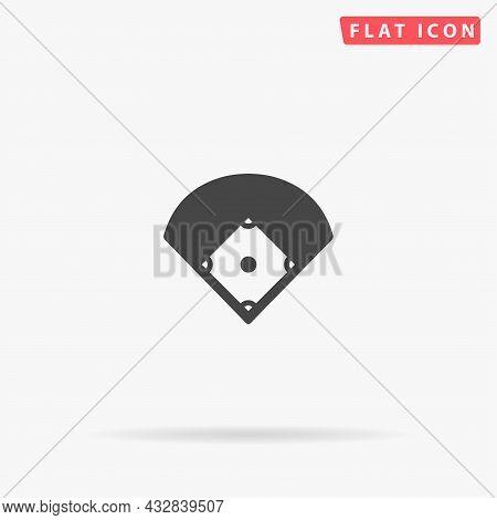 Baseball Field Flat Vector Icon. Hand Drawn Style Design Illustrations.