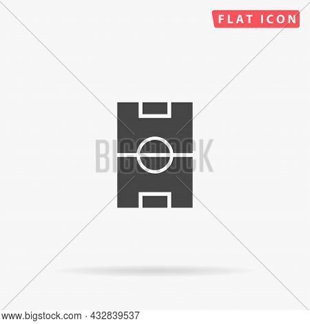 Football Pitch, Soccer Field Flat Vector Icon. Hand Drawn Style Design Illustrations.