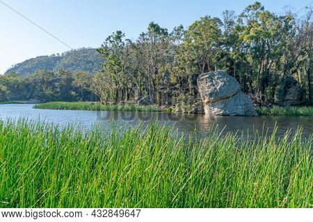 Dunns Swamp, Or Ganguddy, A Beautiful, Serene Waterway In Wollemi National Park Of Nsw, Australia