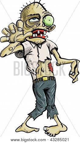 Cartoon Zombie grabbing with his hand