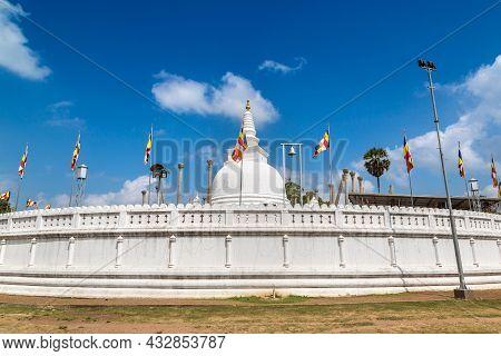 Thuparamaya Dagoba (stupa) In A Summer Day, Sri Lanka