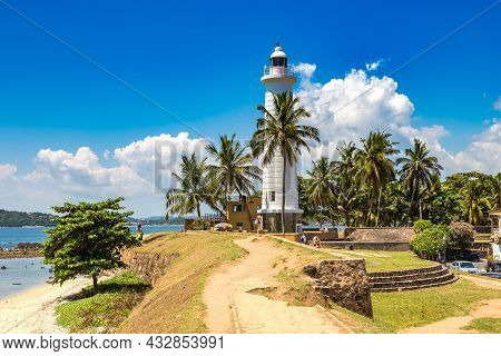 Lighthouse In Galle Fort In A Sunny Day In Sri Lanka