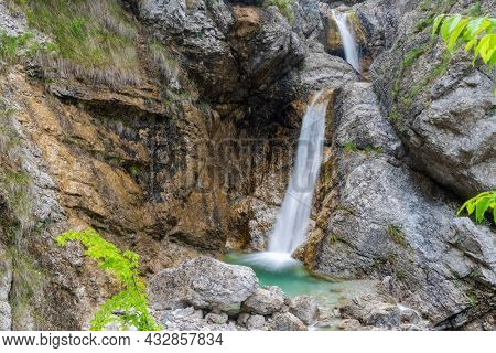 Waterfall Cascata Facchin in Trentino-Alto Adige, Italy