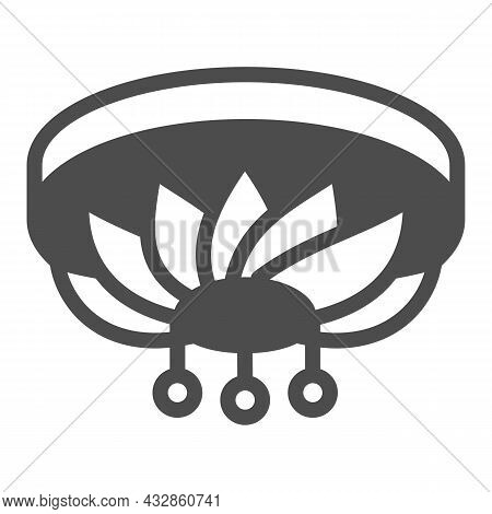 Chandelier Solid Icon, Interior Design Concept, Ceiling Lighting Vector Sign On White Background, Gl