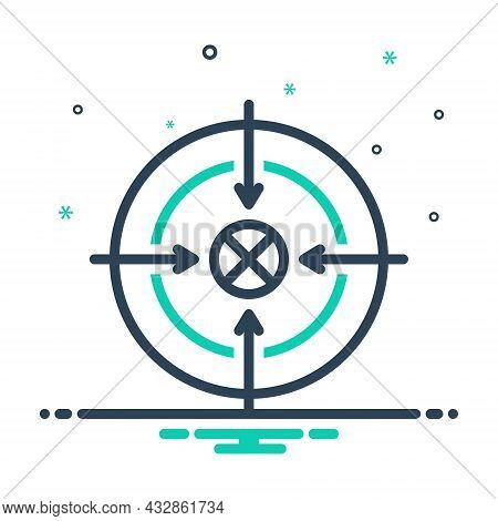 Mix Icon For Shoot Sport Accurate Target Goal Ambition Archery Archer Concentration