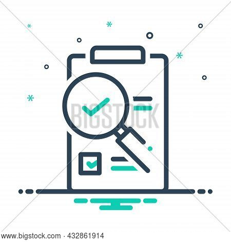 Mix Icon For Evaluation  Research Magnifying-glass Assessment Appraisal Notice Checklist Feedback Su