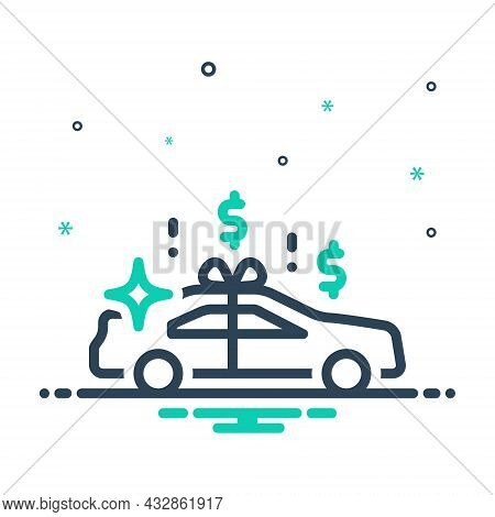 Mix Icon For Fortune Chance Destination Happiness Car New Gift Automobile