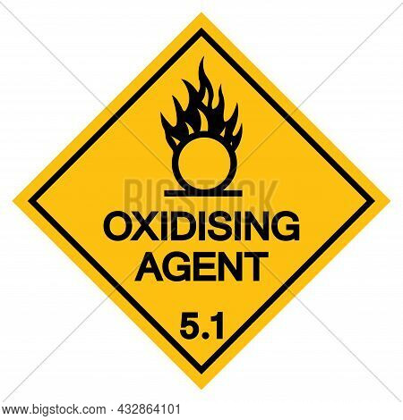 Oxidising Agent Symbol Sign, Vector Illustration, Isolate On White Background, Label .eps10
