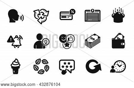 Vector Set Of Wallet, Human Sing And Organic Tested Icons Simple Set. Dollar, Parking Garage And Ice