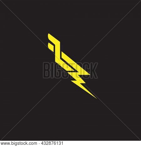 Lp Letter Based Lightning Symbol Scandinavian Style Vector Format For Design Element Or Any Other Pu