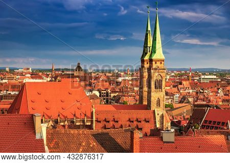 Nuremberg, Germany - Picturesque Medieval City In Historical Franconia, Bavaria.