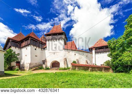 Viscri, Romania. Fortified Saxon Church Of Transylvania, World Heritage Site, Famous Holiday Destina