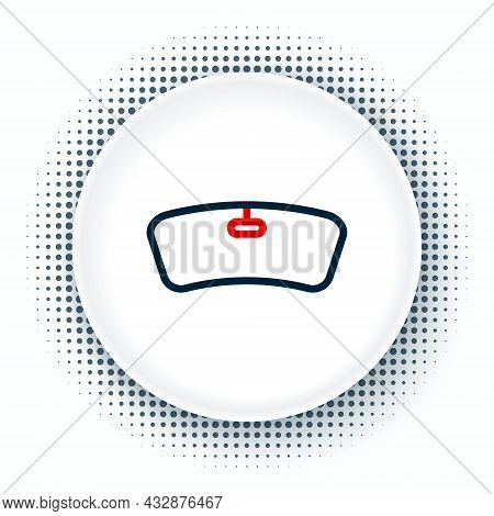 Line Windshield Icon Isolated On White Background. Colorful Outline Concept. Vector