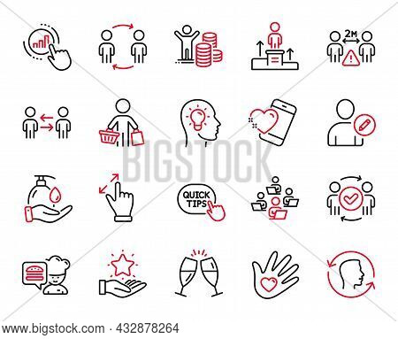 Vector Set Of People Icons Related To Budget Profit, Edit User And Business Podium Icons. Social Res