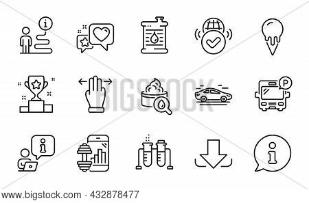 Business Icons Set. Included Icon As Oil Barrel, Moisturizing Cream, Car Signs. Chemistry Beaker, Ic