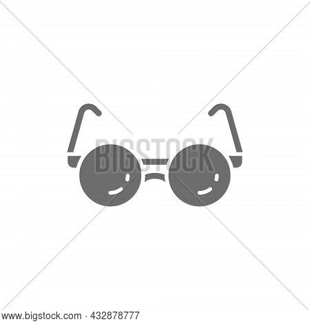 Glasses For Blind Grey Icon. Isolated On White Background