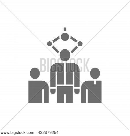 Choosing Best Employee For Job, Recruitment People, Recruiting Agency Grey Icon.