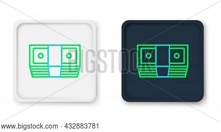 Line Bribe Money Cash Icon Isolated On White Background. Money Banknotes Stacks. Bill Currency. Colo