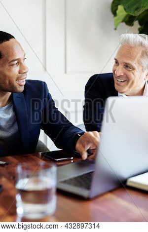 Businessmen discussing in the meeting room