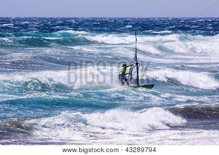 Winsurfing On Gran Canaria.