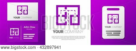 Logotype Evacuation Plan Icon Isolated On White Background. Fire Escape Plan. Logo Design Template E
